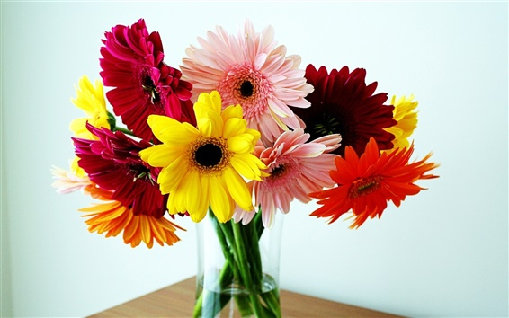 Wallpaper Vase, bouquet, chrysanthemum