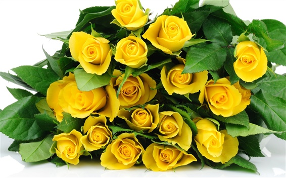 Wallpaper A bouquet flowers, yellow roses