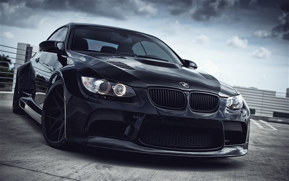 Wallpaper BMW M3 black car