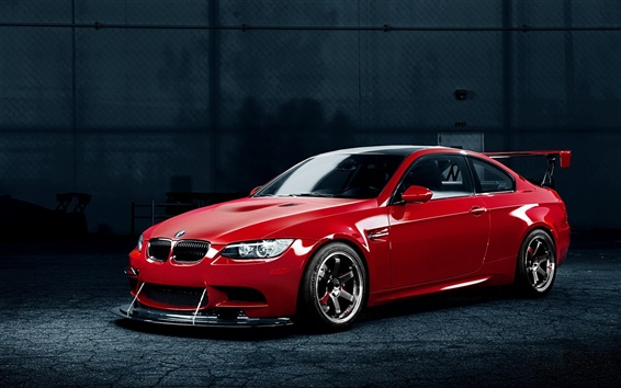 Wallpaper BMW M3 red car