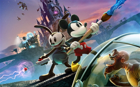 Wallpaper Epic Mickey 2: The Power of Two