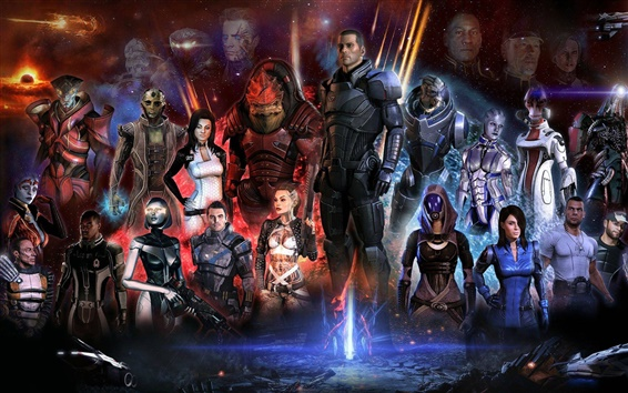Wallpaper Mass Effect 3 game characters