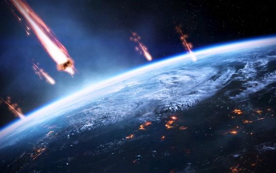 Fond d'écran Mass Effect 3, l'invasion terrestre