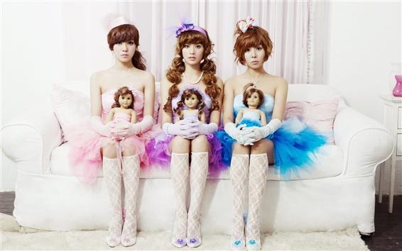 Wallpaper Orange Caramel, Korean music group, beautiful girls