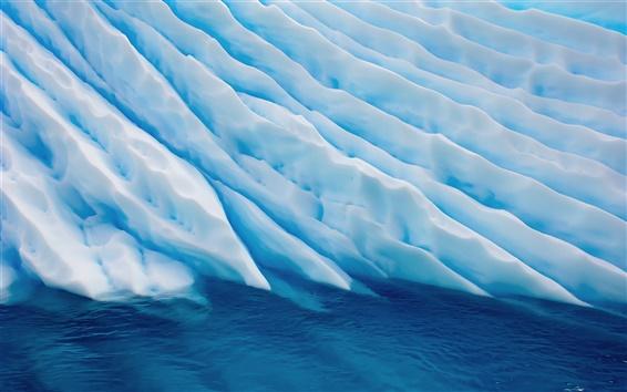 Fondos de pantalla Por encima de un mar de hielo a rayas