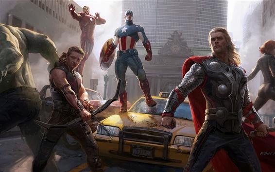 Wallpaper The Avengers 2012 hot movie