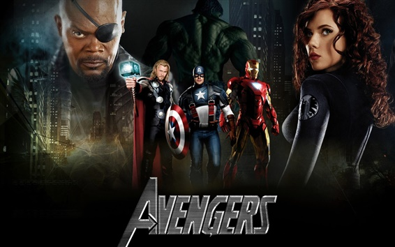 Wallpaper The Avengers, five super heroes
