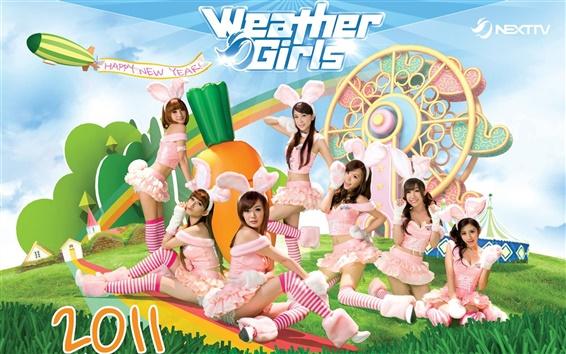 Wallpaper Weather Girls 02
