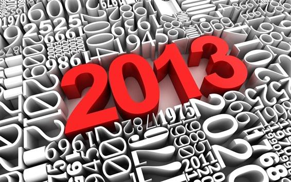 Fond d'écran 3D créative, rouge 2013 Année Nouvelle