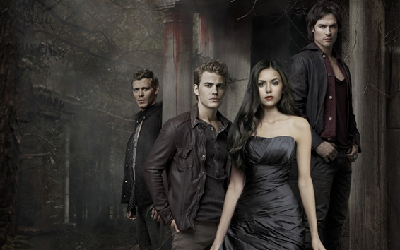 Wallpaper The Vampire Diaries, hot TV series
