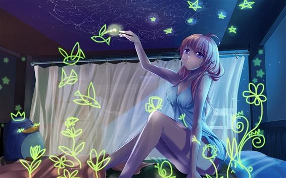 Fondos de pantalla Anime girl mágico pincel