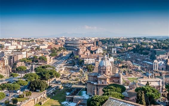 Обои Архитектурный пейзаж города Рим, Италия
