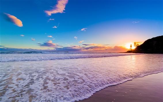 Wallpaper Australia Queensland, Gold Coast, beautiful sunset