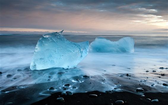 Fond d'écran Cristal bleu de la mer de glace