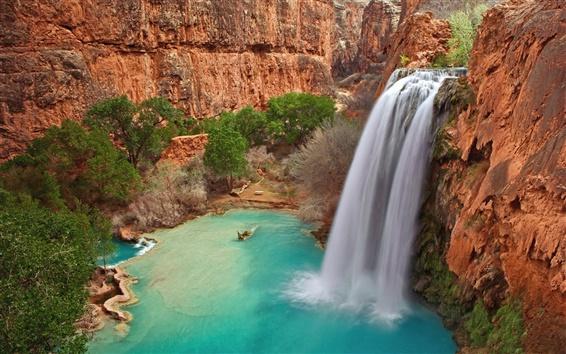 Fondos de pantalla Havasu Falls, Gran Cañón en Arizona