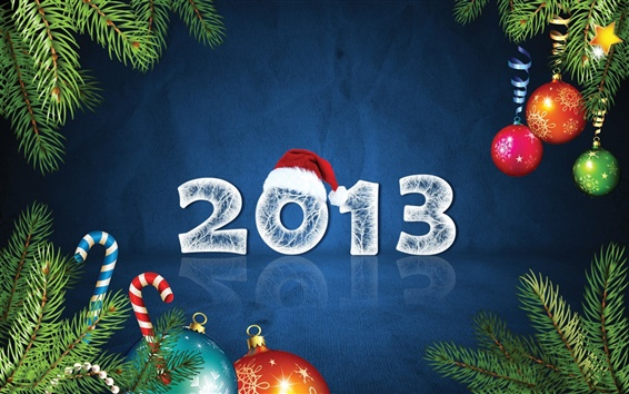 Wallpaper New Year 2013, Christmas and New Year decoration