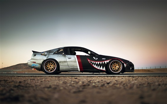 Wallpaper Nissan 300ZX supercar close-up