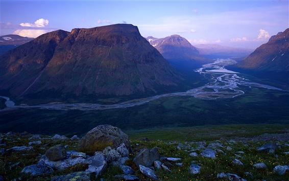 Обои Рапа-реки, Швеции, Национальный парк Сарек, горы, скалы
