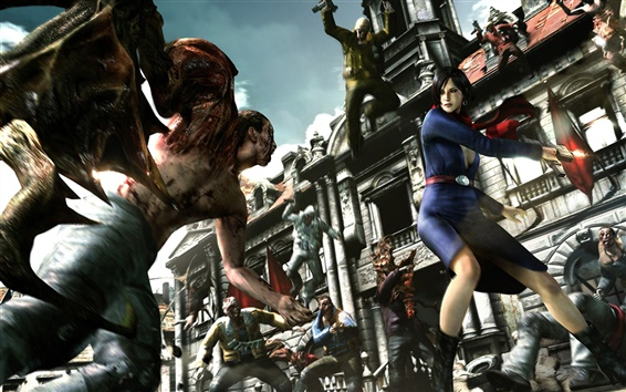 Fond d'écran Resident Evil 6, capture d'écran de jeu