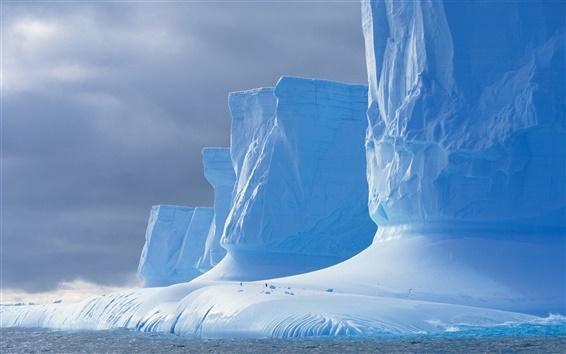 Wallpaper Shock landscape, Antarctic glaciers
