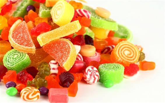 Fondos de pantalla El caramelo colorido deslumbrante, azúcar de la fruta