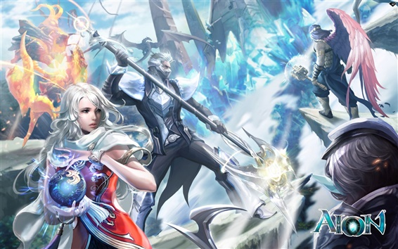 Wallpaper Aion battle