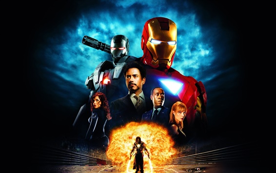 Wallpaper Iron Man hot movie
