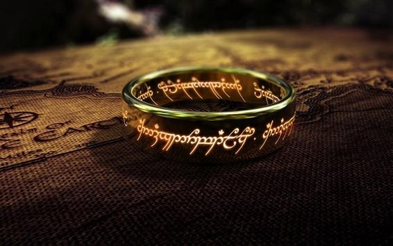 Fondos de pantalla El Señor de los Anillos, uno de los anillos de cerca