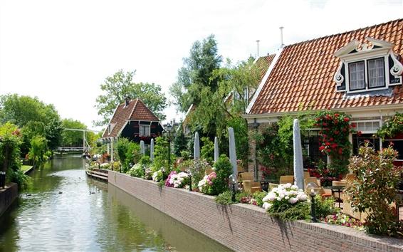 Wallpaper Netherlands Abbekerk river house