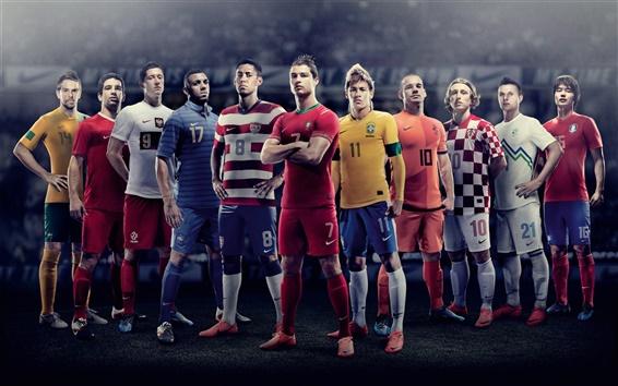 Обои Европы 2012 года по футболу, звездный игрок фото