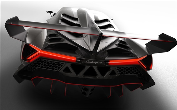 Wallpaper 2013 Lamborghini Veneno, rear close-up