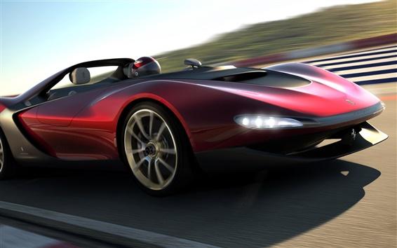 Обои 2013 Pininfarina Sergio концепт-кар на высокой скорости