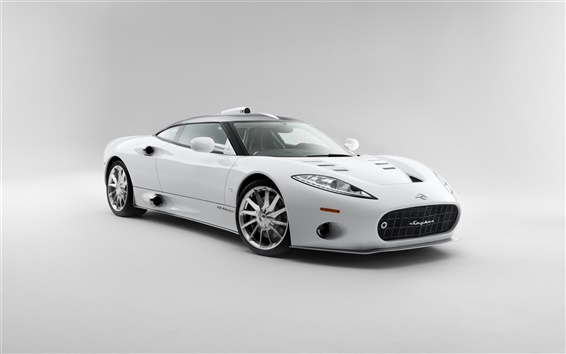 Wallpaper 2013 Spyker C8 Aileron, white color