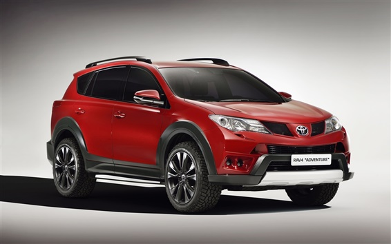 Wallpaper 2013 Toyota RAV4 Adventure, red color car