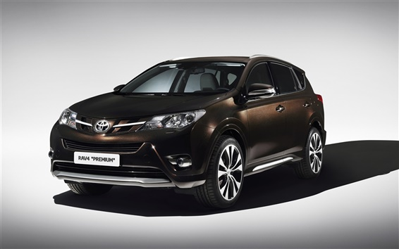 Wallpaper 2013 Toyota RAV4 Premium, brown color car