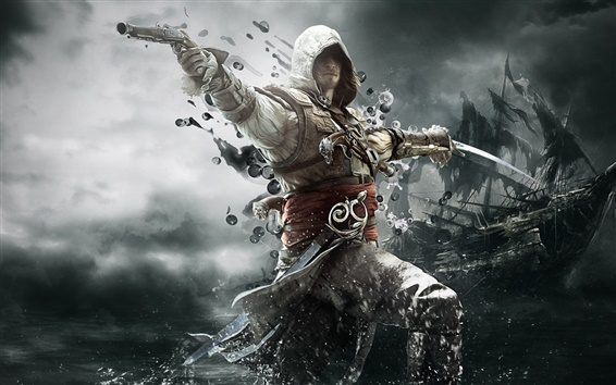 Wallpaper 2013 game, Assassin's Creed 4: Black Flag