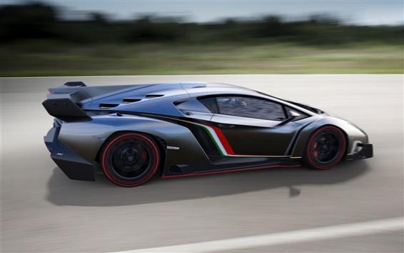 Обои Суперкар Lamborghini 2013 Veneno работает в высокоскоростных