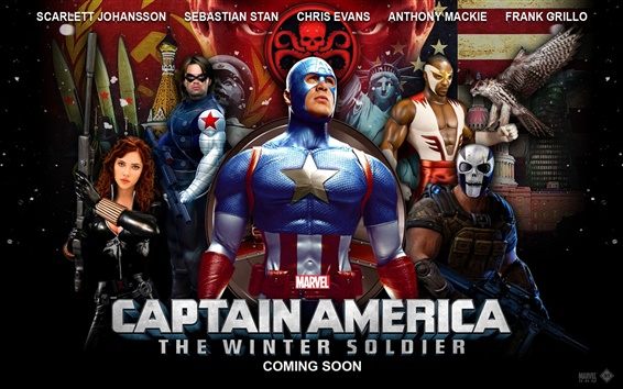 Papéis de Parede Captain America: The Winter Soldier