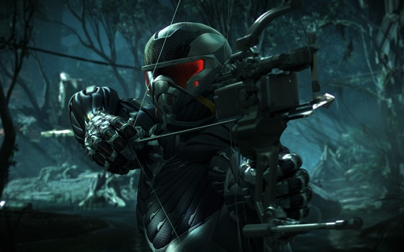 Wallpaper Crysis 3, hunter in the forest
