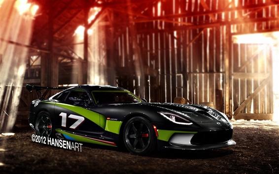 Wallpaper Dodge Viper SRT GTS supercar