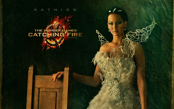 Papéis de Parede Jennifer Lawrence como Katniss, The Hunger Games: Catching Fire
