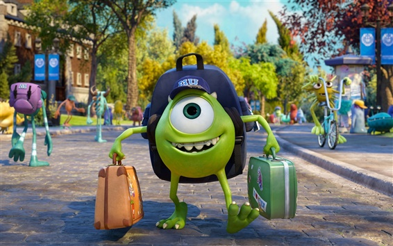 Wallpaper Monsters University, Disney, Pixar cartoon movie