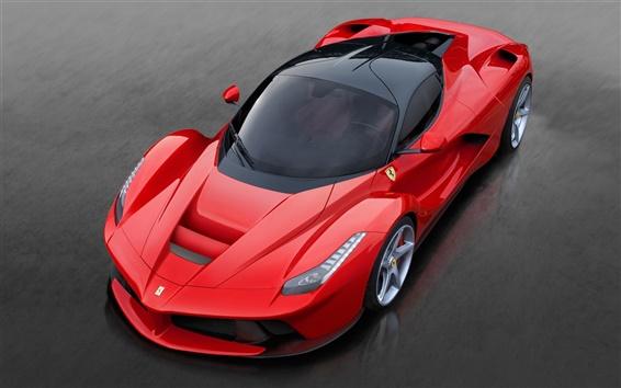 壁紙 赤いフェラーリLaFerrari2013高級車