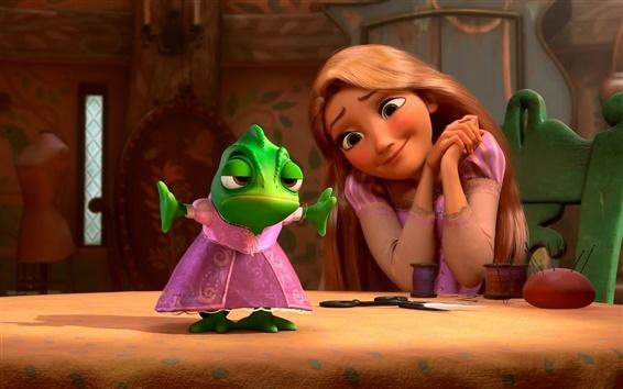 Papéis de Parede Tangled, Rapunzel com a rã