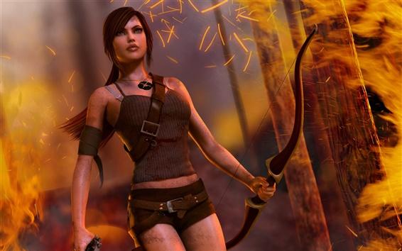 Wallpaper Tomb Raider, Lara Croft, beautiful girl