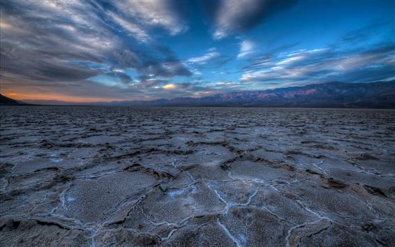 Fond d'écran États-Unis, Californie, Death Valley, paysage beau matin