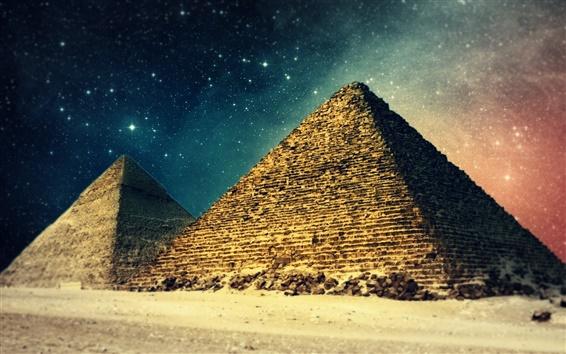 Papéis de Parede Sonhos antigos, construção artística, Pirâmide