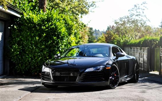Wallpaper Audi R8 black
