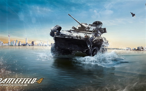 Wallpaper Battlefield 4, armored vehicles ashore