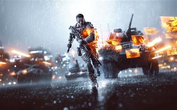 Papéis de Parede Battlefield 4, o dia chuvoso da noite da cidade